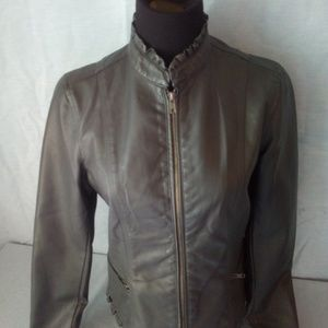 Baccini faux leather jacket